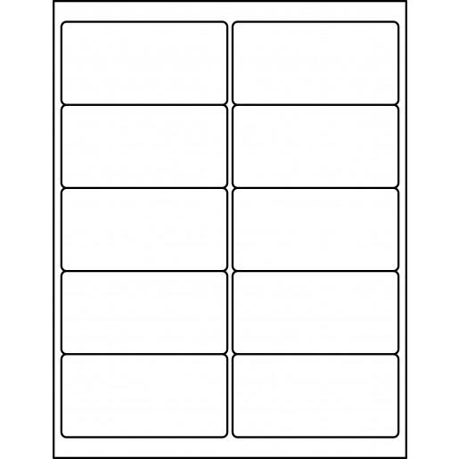 4 u0026quot  x 2 u0026quot  shipping labels - rectangle labels