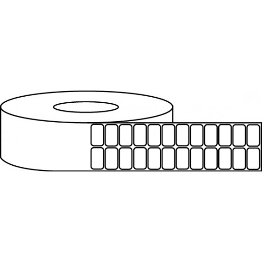 """1"""" x 0.5"""" Thermal Label Roll - 3"""" Core / 8"""" Outer Diameter"""