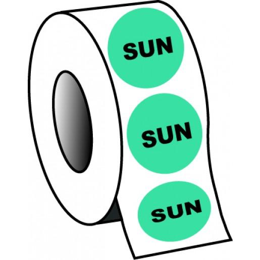"0.75"" Sunday Planner Circle Label"