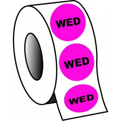 "0.75"" Wednesday Planner Circle Label"