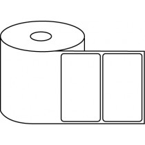 "4"" x 2.5"" Thermal Label Roll - 1"" Core / 4"" Outer Diameter"